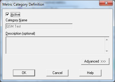 Metric Category Definition