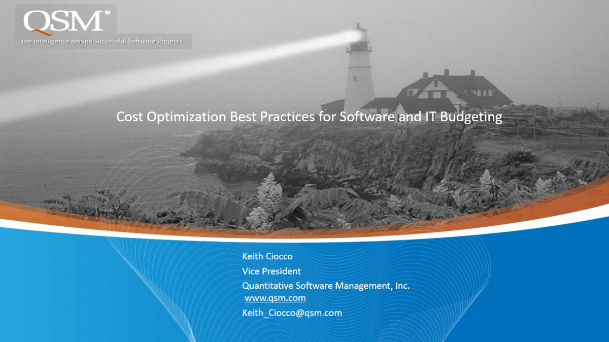 Cost Optimization for Software and IT Budgeting Webinar