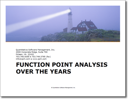 Function Point Analysis Over the Years