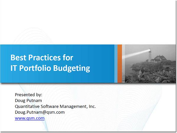 IT Portfolio Budgeting