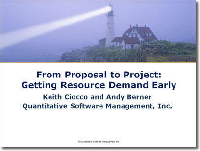 From Proposal to Project: Getting Resource Demand Early