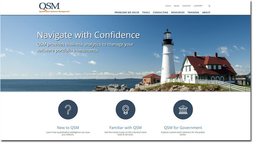 New QSM Website Homepage