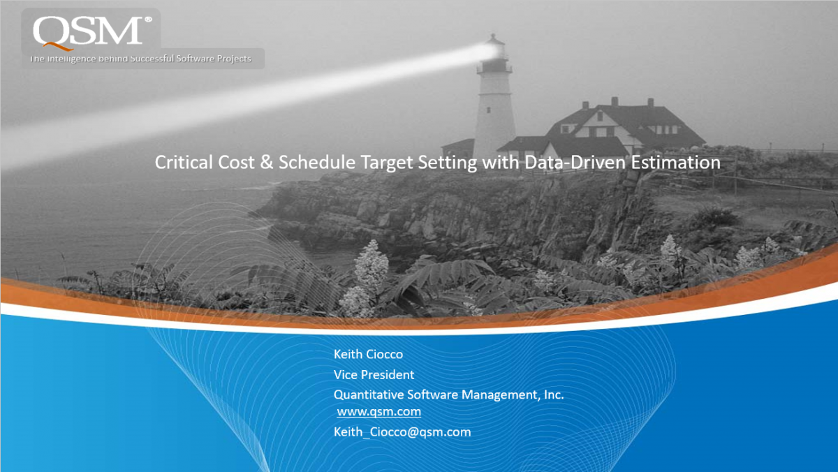 Cost and Schedule Target Setting Webinar