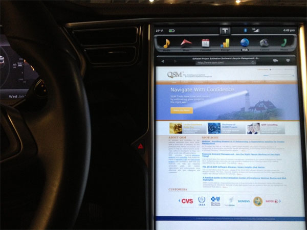 Tesla Automotive Software Size