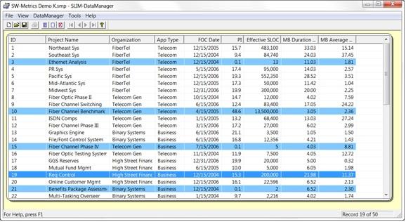 Validated SLIM-DataManager database