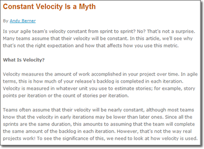 Constant Velocity Is a Myth
