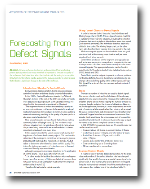 Forecasting from Defect Signals