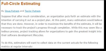 Full-Circle Estimating