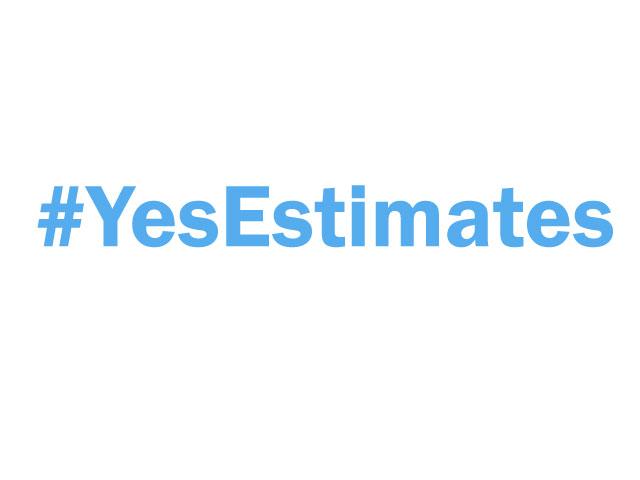 #yesestimates for agile